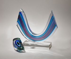 Harvey Littleton, Blue Mobile Arc, 1988