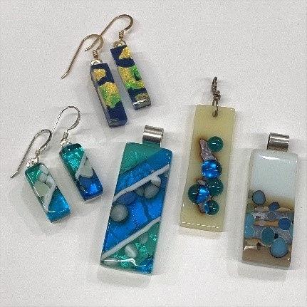reactive glass jewelry
