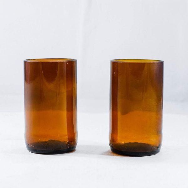 Beer bottle drinking glasses